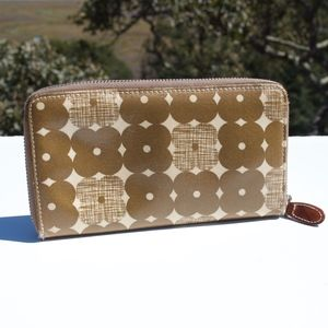 Orla Kiely Brown Flower Wallet